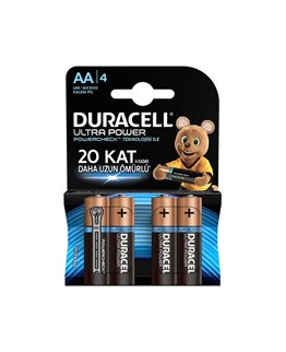 Duracell Ultra Power Powercheck Alkalin AA Kalem Pil 4 Lü Paket LR6 / MX1500